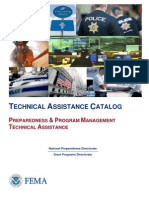 FEMA Technical Assistance Catalog