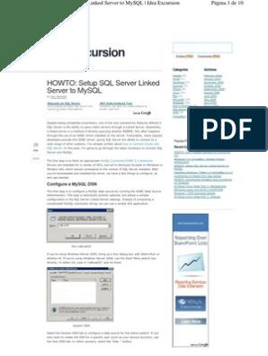 Linked Server Sqlserver to Mysql | My Sql | Microsoft Sql Server