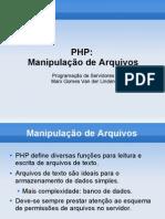 Manipulação de Arquivos PHP
