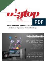 BIGTOP Production Rentals Catalogue 2