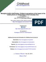 Mobile Relationships Children
