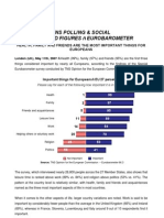 TNS POLLING & SOCIALFACTS AND FIGURES – EUROBAROMETER  HEALTH, FAMILY AND FRIENDS ARE THE MOST IMPORTANT THINGS FOREUROPEANS