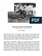 Peral Harbor to Hiroshima