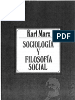 Tema 2.Karl Marx, Sociologia y Filosofia Social. Pp. 70-108