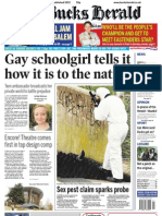 Gay Schoolgirl tells it how it is to the nation