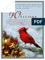 First Church of Seventh-day Adventists Weekly Bulletin (Winter 2012)