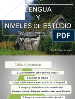 LENGUA Y NIVELES DE ESTUDIO