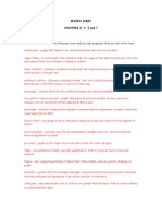 Ch. 3, 4, 5 Review Sheet