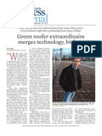 Green roofer extraordinaire  merges technology, biology