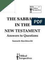 The Sabbath in the New Testament by Samuele Bacchiochi