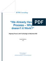 RTM Consulting Whitepaper We Already Have a Process
