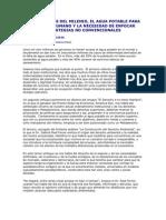 Los Objetivos Del Milenio, El Agua Potable Para Consumo Humano y La Necesidad de Enfocar Estrategias No Convencionales