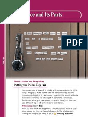 Grammar for Writing Grade 6 Answer Key | Subject (Grammar