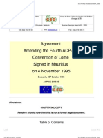 Cotonou Agreement & Lome IV