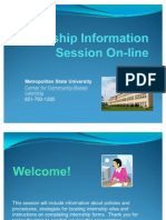 Internship Information Session Online