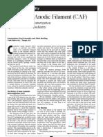 Conductive Anodic Filament (CAF)