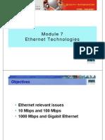 CCNA1 M7 Ethernet Technologies