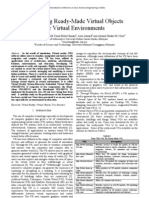 Organizing Ready-Made Virtual Objects For Virtual Environments