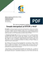 Por Crisis en Transporte Maritimo Senado Interpelara Al Dtop y Ogp