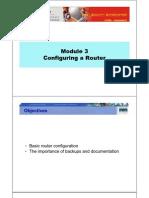 CCNA2 M3 Configuring a Router