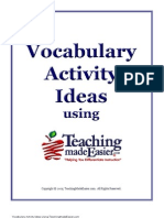 Vocabulary Activities Using TME