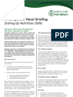 A Montpellier Panel Briefing - Scaling Up Nutrition
