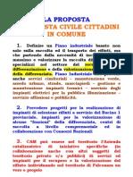 La presentazione proposta per la valorizzazione del cam di Falconara in Polo del riciclo e del recupero.