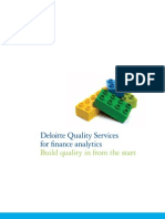 Deloitte Quality Services for finance analytics