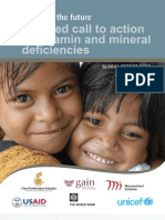 A United Call to Action on Vitamin and Mineral Deficiencies