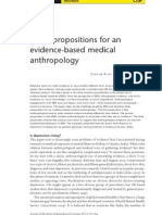 Three Propositions for an Evidence-Based Medical Anthropology