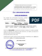 CARTA DE RESIDENCIA DE RESIDENTES DEL EDIFICIO