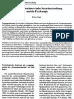 Ernst Plaum- Bohrs quantentheoretische Naturbeschreibung und die Psychologie