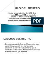 Calculo Del Neutro