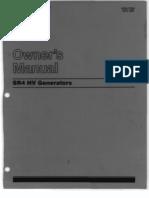 Caterpillar Owners Manual Sr4 Hv Generators
