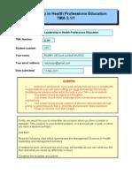 TMA 1 Form - Module 2.1 Student 235