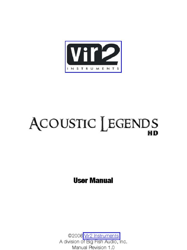 Acoustic Legends Hd Manual Installation Computer Programs Guitars