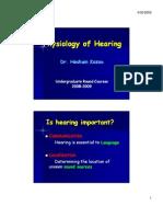 Physiology of Hearing (a. Prof. Hesham Kozou)