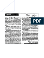 Use AG's Report to Evaluate MPs