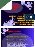 Application of Marginal Costing