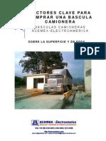Acemex Factores de Compra Para Bascula Camionera