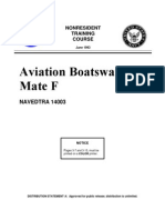 US Navy Course NAVEDTRA 14003 - Aviation Boatswain's Mate F