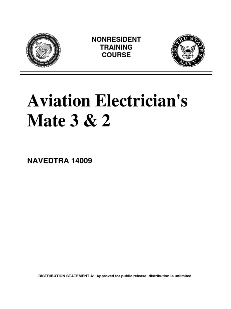 Us Navy Course Navedtra 14009 Aviation Electricians Mate 3 2 Cabin Wiring Diagram High Voltage Electric Shock