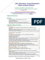 Health, Education, Social Protection News & Notes 02/2012