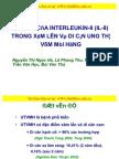 Vai Tro Cua IL-8 Trong Xam Lan Va Di Can Ung Thu Vom Mui Hong