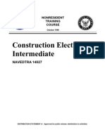 US Navy Course NAVEDTRA 14027 - Construction Electrician Intermediate