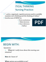 3critical Thinking in Nursing Practice
