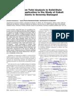 Doménech, A. et al. Study cobalt and copper pigments in damaged frescoes. 2008