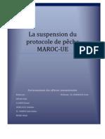 La Suspension Du Protocole de Peche Maroc-UE