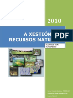 Xestión dos recursos naturais - Recursos non renovábeis