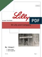 Eli Lilly_Group 2_Sec B